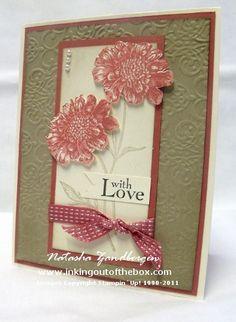 Colours - Very Vanilla, Crumb Cake, Primrose Petals, Early Espresso. Lacy Brocade embossing folder