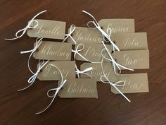 The Ginger Pen Lettering Studio - hand lettering, calligraphy, modern calligraphy, gold ink, name tags Brush Lettering, Hand Lettering, Gold Ink, Addressing Envelopes, Modern Calligraphy, Note Cards, Gift Tags, Place Card Holders, Studio