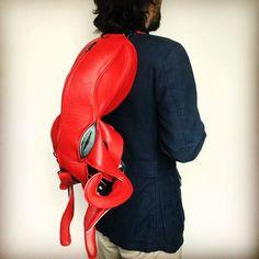 #octopusbag by #krukrustudio #leatheroctopus #squidbag #leatherbackpack #octopusart
