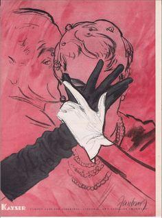 1955 Kayser Gloves Ad