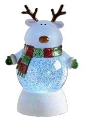 LED Lighted Color-Changing Reindeer Christmas Glitterdome