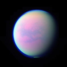 Titan, a moon of Saturn Aesthetic Art, Aesthetic Pictures, Arte Do Sistema Solar, Look Wallpaper, Space Girl, Space And Astronomy, To Infinity And Beyond, Vaporwave, Outer Space