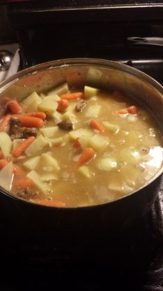 We dont eat red meat very often in our house, but every once in a while someone gets a craving for a hearty beef stew and some crusty Sourdough bread. This is my standby recipe.