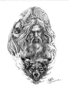 Викинг-Ульфхеднар  арт для тату
