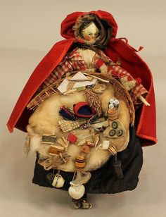 """Sold for $1,000  -  14  bids  eBay- 8 1/2"""" ANTIQUE ALL ORIGINAL PEG-WOOD YELLOW TUCK COMB PEDDLAR DOLL. Early to ..."""