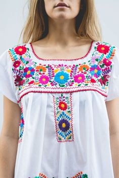 Authentic Oaxacan Embroidered Dress