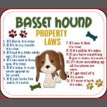 Basset Hound Property Laws 4 Mouse Pad | Zazzle