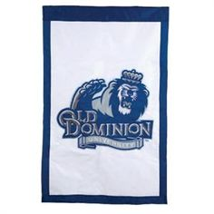 """Old Dominion University Regular Sized Double Sided Applique Flag: This flag cheers, """"Go Monarchs!"""" with every wave in the wind. When ODU fever run in your blood, it should also fly with pride by your front door. Old Dominion University, University Housing, All Flags, Virginia History, Evergreen Enterprises, Nebraska Cornhuskers, House Flags, Business Signs, Flag Design"""