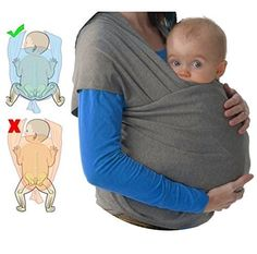 Mipies Baby Wrap Sling UK ✮ Best Baby Sling Wrap ✮ Ergo Baby Carrier ● Breastfeeding Sling with Carry Case ● Hold your Baby close to your Heart Best Baby Sling, Baby Sling Wrap, Baby Wrap Carrier, Baby Wearing Wrap, Baby Life Hacks, Moby Wrap, Baby Information, Cute Baby Videos, Childproofing