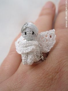 Amigurumi 0.8 inc Miniature Angel Pattern available on Ravelry for $9.00 by Denizmum