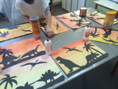 Dinosaur Art Projects, Dinosaur Activities, Pre K Activities, Preschool Projects, Kindergarten Activities, Painting For Kids, Art For Kids, Crafts For Kids, Club Kids