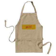 rezist romania political slogan resist protest sym adult apron - home decor design art diy cyo custom