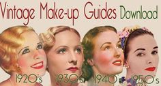 Download original in depth vintage makeup guides from the golden eras.