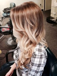 THIS blonde, but burgundy where the light brown is