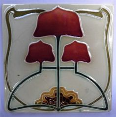 Superb Antique Art Nouveau Tile by c1904/6