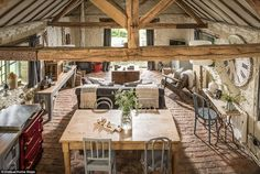 Malvern Hills luxury rustic self-catering barn conversion Barn House Conversion, Barn Conversion Interiors, Barn Conversions, Cottage Style Decor, Rustic Cottage, Converted Barn, Barn Renovation, Cottage Interiors, Small Spaces