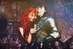 Merida with her prince in shining armour <3