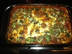 lasagna with eggplant, spinach, & mushrooms--very tasty! Definitely one I would make again!