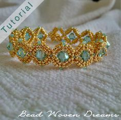 Nestled Gems Bracelet and Earring Tutorial by BeadWovenDreams