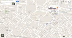 Peta Lokasi cabang ke-2 Build&Design Segi8 Surabaya