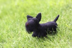 Needle felt Scottish Terrier dog HeartFelties