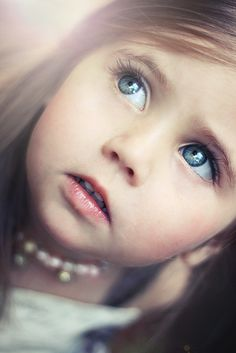 Toddler girl portrait photography closeup