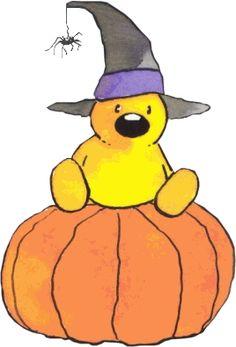 Halloween bear (artist: L. Love Energy, Halloween 1, Paper Clip, Love And Light, Gourds, Pikachu, Witch, Clip Art, Illustration