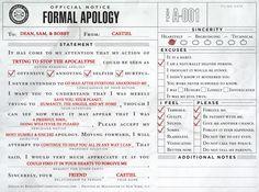 Castiel's apology for season 6, consider my heart officially broken.