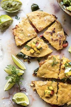 grilled vegetable and cheese quesadillas with mango salsa recipe Marinated Grilled Vegetables, Grilled Vegetable Sandwich, Grilled Vegetable Recipes, Best Vegetarian Recipes, Vegetarian Dinners, Healthy Recipes, Vegetarian Lunch, Easy Meal Plans, Easy Meals