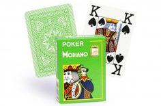 Cartes Modiano 4 index (vert clair) - Pokeo.fr - Jeu de 52 cartes Modiano 100% plastique 4 index de couleur verte clair.