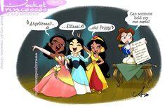 Disney Princess Cartoons, Disney And Dreamworks, Disney Cartoons, Disney Pixar, Merida Disney, Funny Disney Jokes, Disney Memes, Disney Quotes, Pocket Princess Comics
