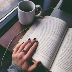 Travel with a good book & cup of coffee