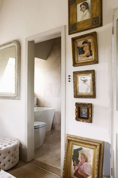 Discover ideas for displaying art on HOUSE - design, food and travel by House & Garden. The narrow sliver of wall next to a door can be the perfect place to display art.
