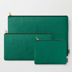 Teal The World (Green) Carry-All Pouch by Moonshine Paradise  #earthy #teal #solid #color #art