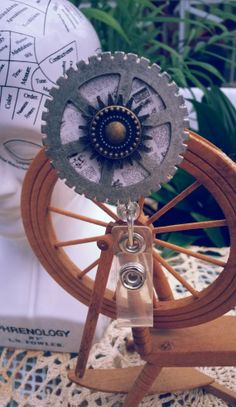 Steampunk Gears and Cogs Badge Reel by TheLunacyCraftingCo on Etsy, $18.00