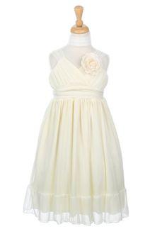 Ivory Chiffon Girl Dress