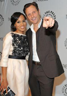 Kerry Washington and Tony Goldwyn. Best tv couple ever. SCANDAL