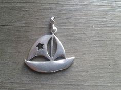Kettenanhänger Maritim Segelboot Schiff Segeln von Küstenmädel auf DaWanda.com
