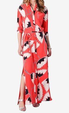 Diane von Furstenberg maxi dress long sleeves pink floral print