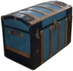 One Kings Lane - Architectural Anarchy - Antique Wood Travel Trunk