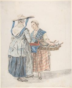 Two Market Women  Artist:     Jacobus Perkois (Dutch, Middelburg 1756–1804 Middelburg)  Date:     1789  Medium:     Blue chalk, black chalk, and watercolor  Dimensions:     sheet: 11 x 8 7/16 in. (28 x 21.4 cm)  Classification:     Drawings  Credit Line:     The Elisha Whittelsey Collection, The Elisha Whittelsey Fund, 2005  Accession Number:     2005.83