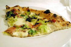 Brussels sprouts and pancetta pizza from Motorino in the East Village