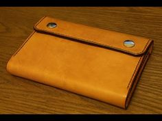 Making a Leather Notebook Cover - YouTube