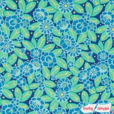 Violette Camelia Sky Blue Quilt Fabric by Amy Butler for Freespirit