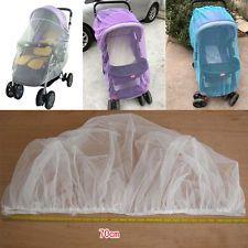 Cama de bebé vivero cuna dosel Inflable Mosquito Net 3 Colores Cochecito Buggy…