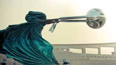Force of Nature by Lorenzo Quinn. Located in Katara Cultural Village, Qatar