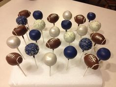 New Cupcakes Decoration Football Cake Pop Ideas Football Cake Pops, Football Treats, Football Food, Superbowl Desserts, Football Baby, Alabama Football, Football Season, American Football, College Football