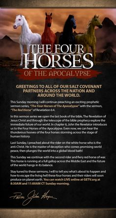 Coming this Sunday, August 23, 2015...The Red Horse!
