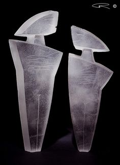 Cast Glass Sculpture by Australian Artist Peter Kovacsy