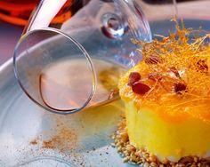 Mizithra cheese with honey, yogurt, pastel & orange marmalade